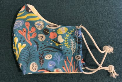 Coral reef fabric mask